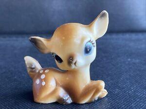 Vintage Plastic 1950's Bambi, Big Eyes Small Retro Bambi