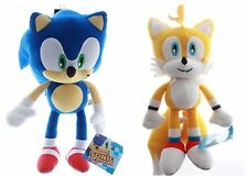 "2PC: 9"" Sonic the Hedgehog & Miles Tails Plush Stuffed Authentic Doll Kids Toys"