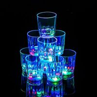 24 Light up Shot Cups Plastic LED Flashing Light up LED Cups Shots Glasses
