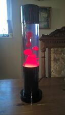 Very Rare Mathmos Metal Base Jet Lava Lamp with Violet Fluid and Red Wax