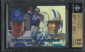 1999 Flair Showcase Legacy Collection Peyton Manning 72/99 Gem Mint BGS 9.5