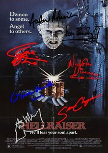 Hellraiser Movie Film Poster With Autographs Signed Print
