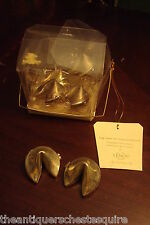 Lenox 6 silverplate fortune cookies, hinged boxes
