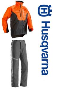Set Schnittschutz Bundhose Husqvarna Classic Motorsäge Schnittschutzhose Jacke G