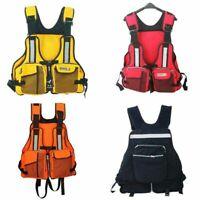 Adult Life Jacket Fishing Kayak Reflective Swimming Adjustable Lifesaving Vest