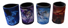 Set of 4 Mystical Dragon Stubby Coolers 11cm (Brand New)