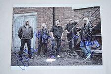 Magnum signed autógrafo en persona 20x28 cm Bob Catley tony Clarkin compl. Band