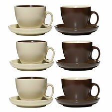 Set De 6 Chocolate & Cream Tea coffee bebidas Tazas Taza Y Platillo Tazas Platillos Taza
