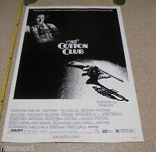 The Cotton Club original Movie poster 27x40 TOUGH! 1984 Dianne Lane