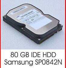 """3,5"""" 8,89 CM 80 GB 80GB IDE FESTPLATTE HDD SAMSUNG SP0842N SCHNELL 7200U/M - F20"""