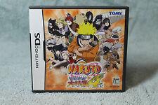 Naruto Saikyou Ninja Daikesshu 4 ds (JAPAN IMPORT) NDS - FREE POST