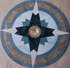 "Floor 32"" Marble TravertineTile Medallion Design Stone 32"" #26a"