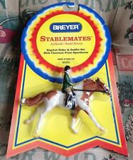 BREYER Stablemates English Rider & Saddle Set w/ Chestnut Pinto Sporthorse #5203