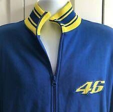 Precisport Valentino Rossi VR46 Mens Racing Sweatshirt Jacket Blue Yellow Size L