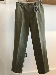 """Drake's SS20 Single-Pleat """"Games"""" Cotton Chino Trouser - Size 34 (Made in Italy)"""