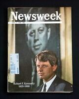 NEWSWEEK MAGAZINE JUNE 17 1968 ROBERT F KENNEDY