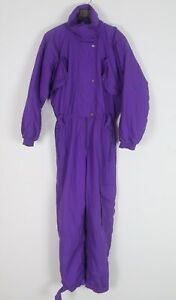 Full Snow Ski Suit Jacket Trousers All in one UK 12 MEDIUM 90's  (45A)