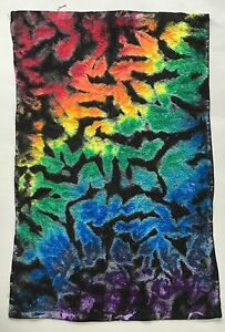 *New* Handmade Tie Dye Rainbow Crinkle Washcloth Hand, Bath Towel, Single or Set