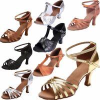 Women Girls Dance Shoes Ballroom Latin Tango Salsa Tango Heeled Stilettos Sandal