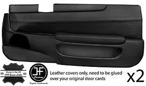 BLACK STITCH 2X FULL DOOR CARD LEATHER COVERS FITS TOYOTA LEXUS SOARER 90-00