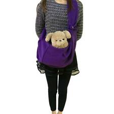 Purple Pet Dog Carrier Bag Dog Cat Shoulder Sling Bag Tote Travel Tote Handbag