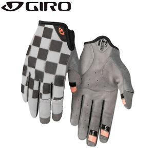 Giro LA DND Womens MTB Gloves - Checkered Grey / Peach
