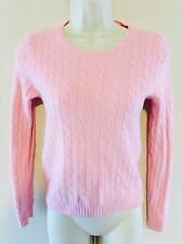 J.CREW CASHMERE BLENDED CABLE KNIT SWEATER M