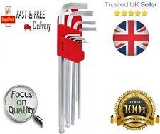 9 Pieza extra Grande Hex Ball End Allen Key Set 9PC Tamaños 1.5 - 10mm calidad del Reino Unido