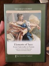 """The Great Courses """"Elements of Jazz: From Cakewalks to Fusion""""  8-CDs Audio Set"""