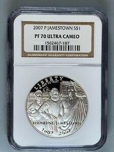 2007-P Jamestown Commemorative PROOF Dollar $1 * NGC PF70 Ultra Cameo