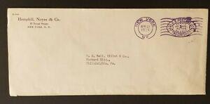 1936 New York to Philadelphia Pennsylvania Permit Meter Postage Business Cover