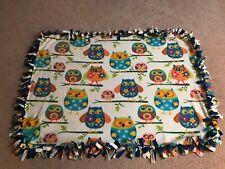 "Owls Bird Lovers Themed Double-Thick Fleece Blanket/Throw - 54""x39"""