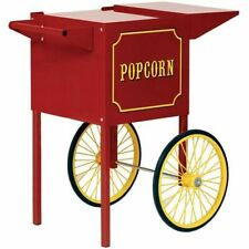 New Matching Red Wheeled Cart For The Theater Pop 4 Oz Popcorn Popper By Paragon