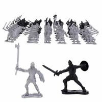 60Pcs/Set Medieval Knights Warriors Kids Toy Soldiers Figure Models Educational
