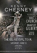 "KENNY CHESNEY / ERIC CHURCH / CHASE RICE ""BIG REVIVAL TOUR 2015"" ATLANTA POSTER"