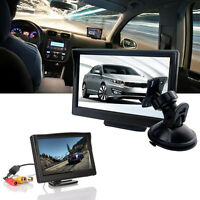 5 Inch TFT-LCD Car Rear View Reverse Backup Camera Monitor + Stand Suction Cup