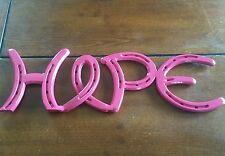 Horseshoe hope sign