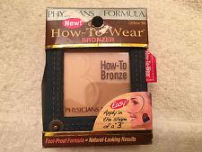 PHYSICIANS FORMULA* How-To-Wear #7865 LIGHT BRONZER Mirror+Brush DENIM COMPACT
