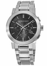 Burberry BU9351 Check Black Dial Chrono Stainless Steel 42mm Men's Watch