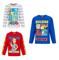 Boys Kids Official Licensed Bob The Builder Long Sleeve T Tee Shirt Top