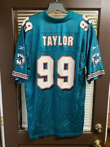Vintage CLEAN Miami Dolphins Jason Taylor #99 NFL Teal  Football Jersey