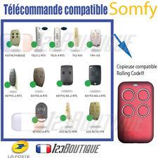Télécommande portail compatible SOMFY MITTO KEY GO RTS TELIS RTS KEYTIS K-EASY