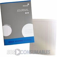 Silvine A4 Book Keeping Journal. Double Cash 32 Page Blue Accounts Ledger. SJA4J