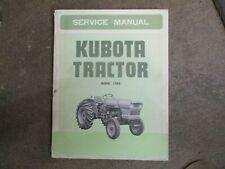 Kubota L285 L 285 Tractor Service Amp Repair Manual