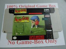 The IREM Skins Game, 100% Original Box Only, SNES, Super Nintendo, Very Good