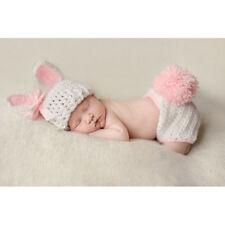 Bunny Fotoshooting Baby Fotografie Strick Mütze Kostüm Häkelkostüm Neugeborenen