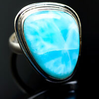Large Larimar 925 Sterling Silver Ring Size 9.25 Ana Co Jewelry R987484F
