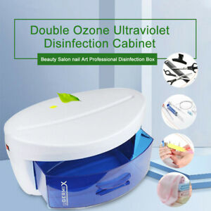 Sterilizer Box For Nail Tools Mini Double Ozone Ultraviolet Disinfection Cabinet
