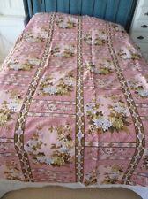 Vintage Floral Bedspread Bed cover with fringe - Single - New