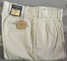 BRAND NEW-Bills khakis M1P-KCC Size 34 PLEATED CHAMOIS CLOTH RELAX FIT MSRP $165
